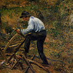 Camille Pissarro - Pere Melon Sawing Wood. (1879)