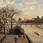 Camille Pissarro - The Louvre and the Seine from the Pont-Neuf. (1902)
