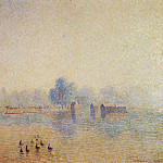 Camille Pissarro - The Serpentine, Hyde Park, Fog Effect. (1890)