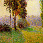 Camille Pissarro - Sunset at Sent Charlez. Eragny. 1891