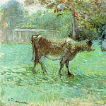 Camille Pissarro - The Cowherd. (1883-88)