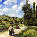 Camille Pissarro - Landscape near Pontoise, the Auvers Road. (1881)