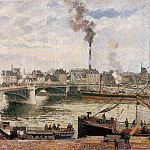 Camille Pissarro - The Great Bridge, Rouen. (1896)