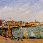 Camille Pissarro - Afternoon, Sun, the Inner Harbor, Dieppe. (1902)
