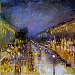 Camille Pissarro - Boulevard Montmartre at Night