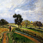 Camille Pissarro - The Old Ennery Road in Pontoise. (1877)