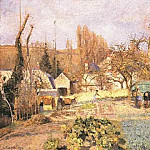 Camille Pissarro - Kitchen Garden at the Hermitage, Pontoise. (1874)