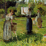 Camille Pissarro - Laundresses at Eragny. (1901)