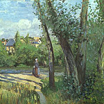 Camille Pissarro - Sunlight on the Road, Pontoise. 1874