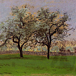 Camille Pissarro - Apples Trees at Pontoise. (1872)