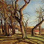 Camille Pissarro - Groves of Chestnut Trees at Louveciennes. (1872)