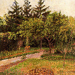 Camille Pissarro - The Garden at Eragny. (1895)