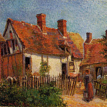 Camille Pissarro - Old Houses at Eragny. (1885)