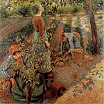 Camille Pissarro - Apple-Picking. (1886)