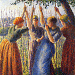 Camille Pissarro - Peasant Women Planting Stakes. (1891)