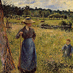 Camille Pissarro - The Tedder. (1884)