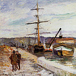 Camille Pissarro - The Port of Rouen. (1883)