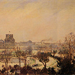 Камиль Писсарро - The Tuileries Gardens - Snow Effect. (1900)