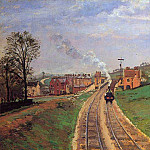 Camille Pissarro - Lordship Lane Station, Dulwich. (1871)