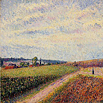 Camille Pissarro - View of Eragny. (1892)