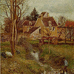 Camille Pissarro - The Brook at Osny. (1883)