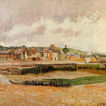 Camille Pissarro - Afternoon, the Dunquesne Basin, Dieppe, Low Tide. (1902)