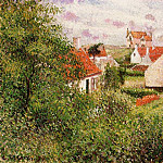 Camille Pissarro - Houses at Knocke, Belgium. (1894)