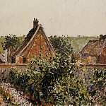 Camille Pissarro - Harvest in the Orchard, Eragny. (1899)