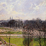 Camille Pissarro - The Tuileries Gardens - Winter Afternoon. (1899)