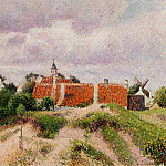 Camille Pissarro - The Village of Knocke, Belgium. (1894)