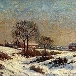 Camille Pissarro - Landscape under Snow, Upper Norwood. (1871)