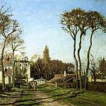Camille Pissarro - Entering the Village of Voisins. (1872)