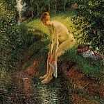 Camille Pissarro - Bather in the Woods. (1985)