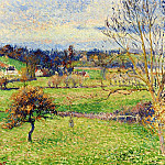Camille Pissarro - Field at Eragny. (1885)