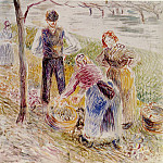 Camille Pissarro - Harvesting Potatos. (1884-85)