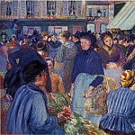 Camille Pissarro - The Market at Gisors. (1899)