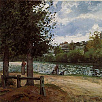 Camille Pissarro - Banks of the Oise in Pontoise. (1870)