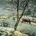 Camille Pissarro - Winter at Montfoucault. (1875)