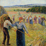 Camille Pissarro - Haymaking at Eragny. (1891)