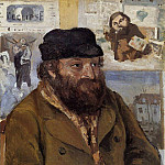 Camille Pissarro - Portrait of Paul Cezanne. (1874)