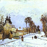 Camille Pissarro - The Road to Versailles at Louveciennes . (1869)