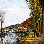 Camille Pissarro - The Seine at Marly. (1871)