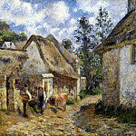 Camille Pissarro - A Street in Auvers. (1880)