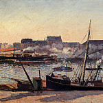 Camille Pissarro - The Docks, Rouen - Afternoon. (1898)
