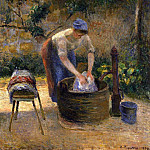 Camille Pissarro - The Laundry Woman. (1879)