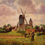 Camille Pissarro - The Knocke Windmill, Belgium. (1894-1902)