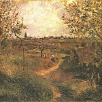 Camille Pissarro - A Path Across the Fields. 1879