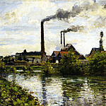 Camille Pissarro - The Factory at Pontoise. (1973)