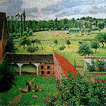 Camille Pissarro - View from my Window, Eragny, 1886-88