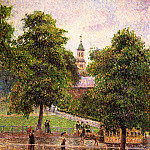 Camille Pissarro - Church at Kew. (1892)